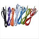 3,5 мм между мужчинами Metal Head Лапша аудио кабель подключения с плоским Тип (1M) (разных цветов)