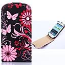 Сливы цветок Pattern Open Вверх и Вниз Pattern PU кожаный чехол для всего тела для Samsung Galaxy S3mini I8190
