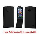 Флип-Open Твердые Pattern Цвет ПУ кожаный чехол для всего тела для Microsoft Lumia 640