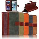 Подлинная матовый нубука Теплые ПУ Слот кожа флип Бумажник карты чехол с подставкой для iPhone 6 (разных цветов)