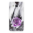 Фиолетовый розы Рельефный Живопись Пластиковые обложка чехол для Samsung Galaxy A5