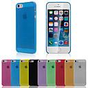 Роскошные ультра тонкий прозрачный задняя крышка для iPhone 5 / 5S (ассорти цветов)