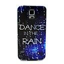 Коко FUN Прогулки в шаблоне дождь мягкая TPU IMD Вернуться Дело Чехол для Samsung Galaxy I9600 S5