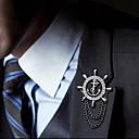 Европейская мода Якорь Руль сплава брошь (1Pc)
