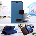 Denim PU Leather Full Body Cases Phone Protective Case with Card Bag for Samsung Galaxy Grand 2 G7106