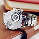 Мужская мода Военная часы Dual Time зон Браслет из нержавеющей стали