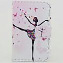 Танец девушки Окрашенные PU чехол для телефона Huawei P8