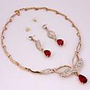 Позолоченные Романтический Zircon колье (включая ожерелье, серьги) Ювелирные наборы