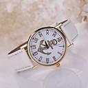 Lady's Anchor Case Leather Band Wrist Fashion Dress Watch Jewelry for Wedding Party