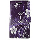 Flowers PU Leather Flip Case with Magnetic Snap and Card for Huawei Ascend P9/P8/P8 LITE/P7/G6/Y550