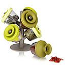 6pcs Tree Style Seasoning Cans Sealed Storage Tank Finelife Pop Up Spice Rack