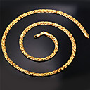 U7® High Quality Vintage 18K Chunky Gold Filled Figaro Chain Necklace for Men 6MM 22Inches 55CM Jewelry