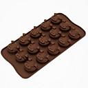 Schwein nettes Gesicht Silikonform 15 auch Löcher DIY Schokoladen-Biskuitkuchen Mini-d-305 5pcs