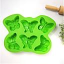 6 mit Schmetterling Silikon bakeware diy Eis am Stiel Form Gitterbox Creme Form d-47 5pcs