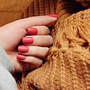 tiras de unhas fosco breve parágrafo pálido 24pcs vermelho elegantes e sensuais / set