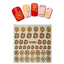 1sheet  Gold Nail Stickers XF6003