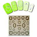 1sheet  Gold Nail Stickers XF6033