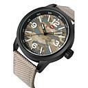 Men's Sport Watch / Military Watch Japanese Quartz Calendar / Water Resistant Fabric Band Cool Black / Green /