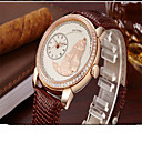 Women's Fashion Watch Quartz Leather Band Casual White Red