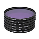 Andoer 72mm UV CPL FLD ND(ND2 ND4 ND8) Photography Filter Kit Set Ultraviolet Circular-Polarizing Fluorescent Neutral Density Filter