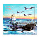 Jigsaw Puzzles Jigsaw Puzzle Building Blocks DIY Toys Elephant Aircraft Carrier Fighter Flower Wooden