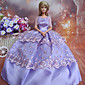 Barbie Doll Deluxe Purple Polyester Evening Party Dress
