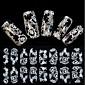 1x16PCS Imbue 3D Diamond Transparent White Lace Nail Art Ultrathin Stickers QJ-27
