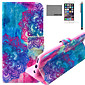 COCO FUN® Colorful Totem Pattern PU Leather Case with Screen Protector and USB Cable and Stylus for iPhone 6