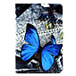 Butterfly  Pattern PU Leather Full Body Case with Stand for iPad mini 1/2/3