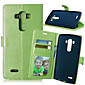 High Quality PU leather Wallet Mobile Phone Holster Case For LG G4(Assorted Color)