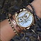 Cat Watch with Glasses Women Quartz Watches Gift idea Cool Watches Unique Watches