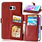 Luxus-PU-Leder Flip-Cover 9 Kartenhalter-Mappenkasten für Samsung Galaxy Note 3/4 note / note 5 (verschiedene Farben)