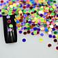1g New Mini Round Thin Paillette Colorful Design Nail Art Decorations Fashion DIY Sticker for Gel Polish Nail Glitter P29-35