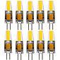 YWXLight® 10PCS G4 4W 1505 COB 300-400LM Warm White/Cool White LED Bi-pin Lights (AC/DC 12-24V)