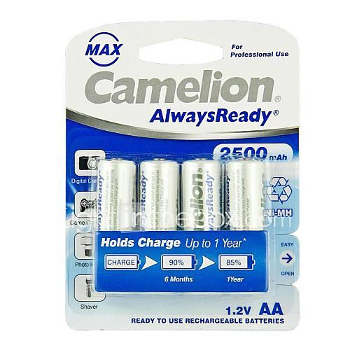 Аккумуляторы Camelion AlwaysReady 2500mAh MAX Ni-MH AA